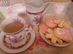 Galletas de Ensueño en bandeja para té