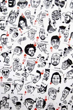 I would find any reason to play cards if I had these Hip Hop Playing Cards (MYNORITY CLASSICS × SAYORI WADA )