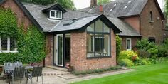 Replace your Conservatory Roof with a Solid Tiled Roof and transform your Conservatory into a comfortable living space. Now available throughout Hampshire. Orangerie Extension, Conservatory Extension, Cottage Extension, Conservatory Design, House Extension Design, House Design, Kitchen Extension Garden Room, Orangery Extension Kitchen, Orangery Conservatory