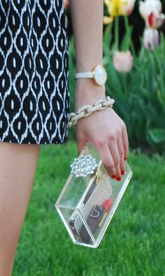 I've wanted a lucite clutch for a long time... LOVE.