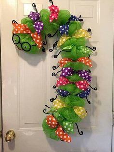 Caterpillar today...candy cane in a a few months. Such a cute idea