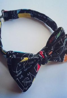 Math print bow tie  from MarvellousMischief