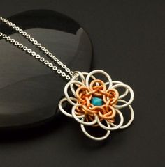 Chainmaille Necklace Kit or Ready Made - She Loves Me She Loves Me Not