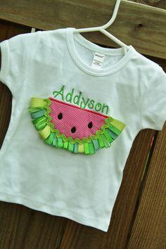 3D watermelon ribbon shirt by MegsMonogramsandMore on Etsy, $21.00