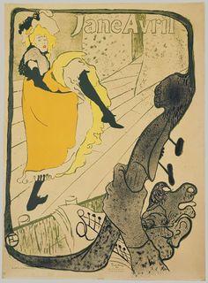 Henri de Toulouse-Lautrec, (French, 1864–1901). Jane Avril, 1893. The Metropolitan Museum of Art, New York. Harris Brisbane Dick Fund, 1932 (32.88.15) #dance #paris