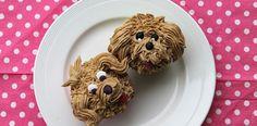 Cupcake-hondjes van mokkacreme