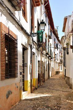 An alley in El Albayzín (also Albaicín or El Albaicín) is a district of Granada, in the autonomous community of Andalusia_ Spain