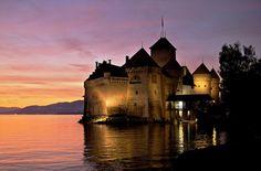 Chillon castle, near the Geneva Lake, and near Montreux, the city where the jazz festival happens.