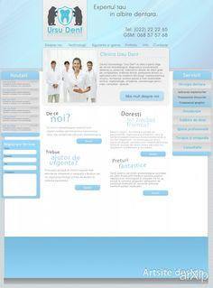 Ursu dent webdesign: веб-дизайн, бизнес, metro ui #webdesign #metroui