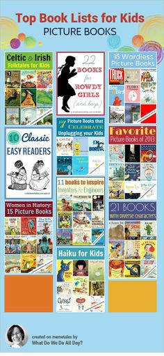 The best picture book lists chosen by readers. Love these selections!