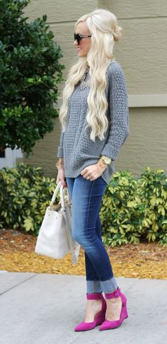A Spoonful of Style: Casual Date Night. Casual Fall Outfits, Fall Winter Outfits, Autumn Winter Fashion, A Spoonful Of Style, Date Night Fashion, Fashion Killa, Denim Fashion, Casual Chic, Street Style