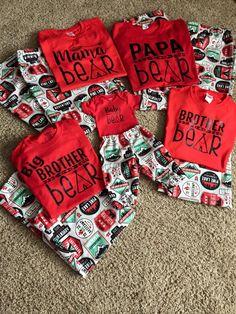 Family Bear Pajamas for Christmas