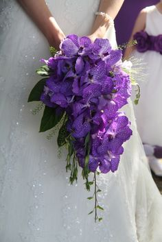 Beautiful Vanda Orchid Wedding Bouquet