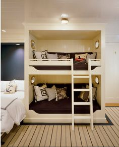 Bunk bed in the Interior in the photo