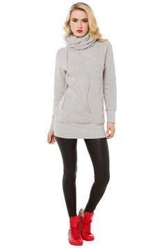 Cute Grey Pullover Hoodie Sweater | AKIRA