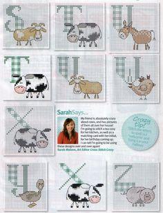 Farming Animals Alphabet 3 end Gallery.ru / Фото #33 - Cross Stitch Crazy 141 сентябрь 2010 - tymannost