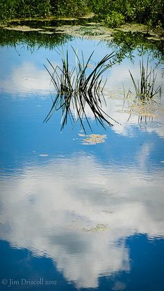 Clouds in The Lake - Reflection