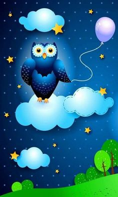 Night Owl Wallpaper Owl Wallpaper, Wallpaper Pictures, Colorful Wallpaper, Mobile Wallpaper, Wallpaper Backgrounds, Decoupage, Owl Art, Beauty Art, Nursery Prints