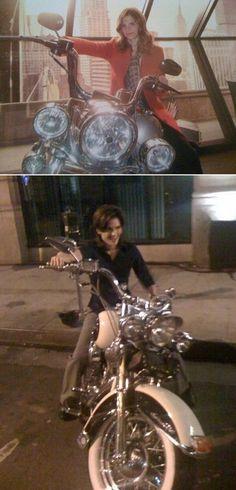Stana Katic & motorcycles