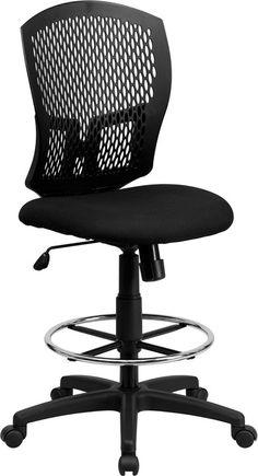 Black drafting stool WL-3958SYG-BK-D-GG