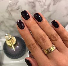 50 stunning short nail designs to inspire your next manicure - # . - 50 stunning short nail designs to inspire your next manicure # stunning inspire # - Short Gel Nails, Short Nails Art, Long Nails, Black Nails Short, Black Gel Nails, Black Manicure, Dark Color Nails, Short Nail Manicure, Simple Gel Nails