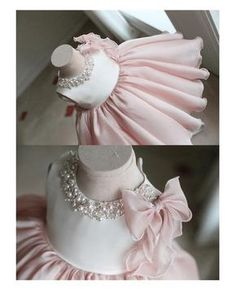 Girly Shop& Light Pink Round Neckline Pearl & Crystal Rhinestone Applique Sleeveless Big Bow Back Little Girl Party Dress Girls Party Dress, Little Dresses, Little Girl Dresses, Baby Dress, Little Girls, Flower Girl Dresses, Birthday Dresses, Dress Party, Baby Girl Fashion