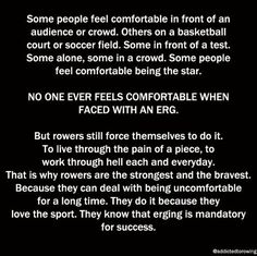 """I don't know about """"bravest"""" and """"strongest"""" but. another reason rowers are badasses. Row Row Your Boat, Row Row Row, The Row, Rowing Memes, Rowing Quotes, Rowing Team, Rowing Crew, Athlete Problems, Coxswain"""