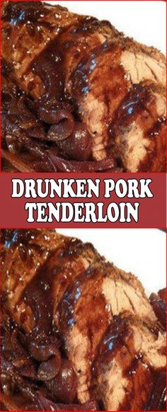 Drunken Pork Tenderloin - Et Yemekleri - Las recetas más prácticas y fáciles Pork Chop Recipes, Meat Recipes, Cooking Recipes, Rabbit Recipes, Cooking Games, Yummy Recipes, Chicken Recipes, Recipies, Dinner Recipes