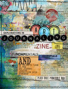 Workshops, Art Journal Caravan, Digital Art Journalling kits, Tutorials, Prompts... Art Journalling Heaven