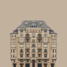 Urban Symmetry series by Romanian artist Zsolth Linka presents buildings on the banks of the River Danube, which are emphasized out of their surroundings and put into soundproof, homogeneous space cleaned off the whole exterior information.