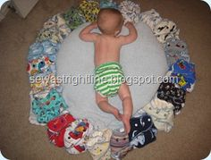 The Making of a fitted Diaper | Great Tut on making one size cloth diapers with snaps and where to buy the supplies to do it.