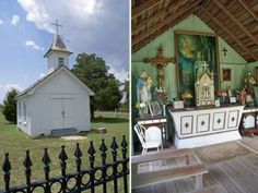 Along Highway 237 between Warrenton and Round Top, TX - at just over 250 square feet, Saint Martin's is said to be the World's smallest Catholic Church. The simple white frame structure is home to an equally small congregation that meets there for Mass once a month. - See more at: http://blog.tourtexas.com/blog/texas-tourist-information#sthash.xV5Wz8wB.dpuf