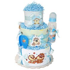 Baby Taz Looney Tunes Diaper Cake for a Boy