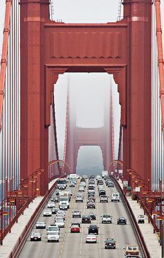 Golden Gate Bridge...We have been across it several times but only about 3 times during the day when I was awake!!!