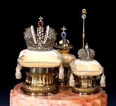 Russian Royal Crowns and scepters