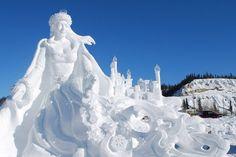 snow sculptures   Sculpture de neige au « Sourdough Rendezvous »