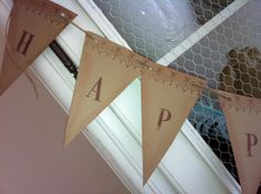 Banner Wedding Garland Sign Vintage Inspired by frenchcountry1908, $24.99