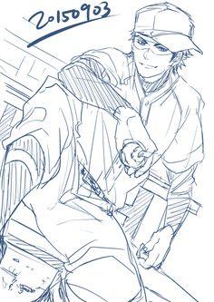 (°◡°♡) I'm in love with this art style, and Miyuki is looking as fine as ever~! Cute Anime Guys, Anime Love, Otaku Anime, Manga Anime, Diamond No Ace, Baseball Anime, Miyuki Kazuya, Wise Monkeys, Guy Drawing