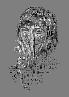 Mosaic portraits of Steve Jobs made out of the typefaces of the first Mac. 1 Bit Color (just black and white) to emulate the original Mac look'n'feel. Created for the Steve Jobs month on Typorn. Made by Charis Tsevis using the fonts designed by Susan Kare for the original Macintosh during the early 80s. The fonts Monaco, Geneva and Chicago are used in this portrait.