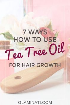 Do you already use tea tree oil for hair growth? The use of tea tree and other oils can help repair your hair and promote its growth. Tea Tree Oil Hair, Tea Tree Oil Uses, Tea Tree Oil For Acne, Hair Oil, Hair Mask For Growth, Hair Growth Oil, Tee Tree Oil, Coconut Oil Tea, Home Remedies For Acne