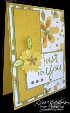 handmade card using Watercolor Words ... patterned papers sets the color palette for stamping ... Stampin' Up!