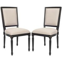 @Overstock - Bring charm and sophistication into your home with these carved mahogany wood side chairs. The set of two chairs features solid distressed oak with a black finish and a light grey cotton blend upholstery.http://www.overstock.com/Home-Garden/Provincial-Carved-Mahogany-Light-Grey-Black-Side-Chairs-Set-of-2/5998358/product.html?CID=214117 $285.99