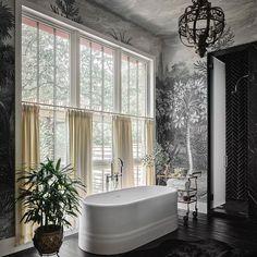 Rebel Walls (@rebelwalls) • Foton och videoklipp på Instagram Inspirational Wallpapers, Luxury Interior Design, Clawfoot Bathtub, Home Decor Inspiration, New Work, Luxury Homes, New Homes, Art Deco, Texas Photography