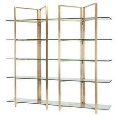 Nuevo Elton Glass Display Shelving in Clear