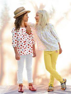 pantalon slim morpho fin fille JAUNE CLAIR+ROSE VIF+BLANC+CORAIL+MENTHE - vertbaudet enfant