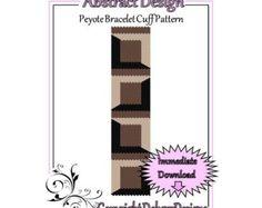 Abstract Design - Beaded Peyote Bracelet Cuff Pattern