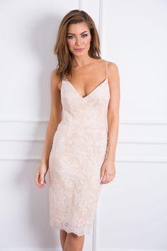 Giselle Lace Dress Blush