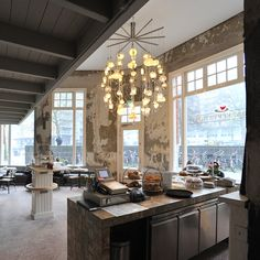 Dutch design studio Piet Hein Eek has completed its tenth interior. Bakkerswinkel is a stunning restaurant and bakery in Rotterdam. We take a look around
