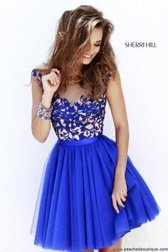Sherri Hill Short Homecoming Dress 11171 at Peaches Boutique