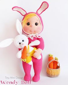 Bunny Costume Wendy Doll - Tiny Mini Design Patterns